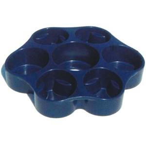 Bandeja Azul porta Latas y Vasos